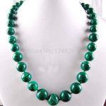 (Min Order1)6-14mm Green Gorgouese Malachite Round Beads Necklace Hand Made Rope Chain Beads <b>Jewelry</b> <b>Making</b> Natural Stone 18inch