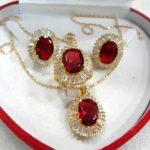 Women's Wedding Charming&Fashion Zircon Earring Pendant Ring <b>Jewelry</b> Set >AAA GP Bridal wide watch moda real silver –<b>jewelry</b>