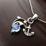 <b>Silver</b> <b>Jewelry</b> Handmade Natural Blue Moonstone Retro Thai <b>Silver</b> Pendant S925 Sterling <b>Silver</b> Dolphin Pendant Fashion Female