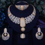 GODKI BIG Luxury Noble Design Women Nigerian Wedding Naija Bride Cubic Zirconia <b>Necklace</b> Dubai 4PCS Wedding <b>Jewelry</b> Set