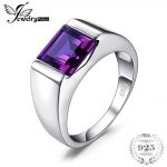 JewelryPalace Men's Square 3.3ct Alexandrite Created Sapphires Ring For Women Real 925 Sterling Sliver <b>Jewelry</b> Ring Gift For Men