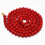 High grade red imitation coral round beads necklace 8,10,12mm women party clothes long chain <b>jewelry</b> <b>making</b> 36inch B1488