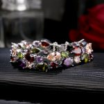 CARSINEL <b>Fashion</b> Women Bracelets & Bangles Silver Color Crystal Colorful AAA Cubic Zircon Women Christmas <b>Jewelry</b> Bracelets Gift