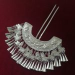 Costume Hanfu Bride Stage Headpieces <b>Handmade</b> Miao Silver Hairpins Double Needle Classic Fringe Flowers Hairpins