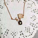 Natural black Starlight sapphire stone Necklace natural gemstone Pendant Necklace S925 <b>silver</b> Fashion lotus women party <b>Jewelry</b>