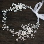 <b>Handmade</b> Bridal Headpiece Flower Crystal Headband Wedding Hair Accessories Silver Hair <b>Jewelry</b> For Women Tiaras Hair Ornaments