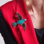 eManco Wholesale Trendy Lampwork Crafts Cute Enamel Birds Brooches for Women Crystal Fashion <b>Jewelry</b> & Clothing <b>Accessories</b>