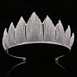 Bridal Wedding Tiaras and Crowns Hair Crown Cubic Zirconia Large Crown for Women Hair <b>Jewelry</b> Accessories Factory Wholesale