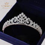 Bavoen High-end Full Zircon Brides Crowns Tiaras Plated Crystal <b>Wedding</b> Hairbands Silver Evening Hair Accessories Prom <b>Jewelry</b>