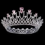 Bride tiara <b>Wedding</b> Crown Flower Headdress for Women Headband Princess crowns and tiaras Head <b>Jewelry</b> Rhinestone King Crown