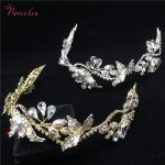 Romantic Gold Silver Rhinestone Hair Vine handmade Bridal hairwear Headband Wedding <b>Jewelry</b> Hair Ornaments RE720-2