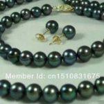 7-8mm Black Cultured Necklaces with Pearls Bracelets Earrings <b>Jewelry</b> Set Fashionable <b>Jewelry</b> <b>Making</b> Design Handmade Ornaments