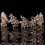 Sparkly <b>Handmade</b> Rhinestone Bridal Headpieces Wedding Crystal Hair Accessories <b>Jewelry</b> Pearl Bridesmaid Crown Tiara