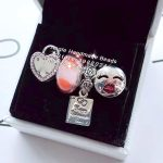 4pcs <b>Jewelry</b> Set S925 Sterling Silver Pink CZ Heart Clip Kiss Charms Beads Fit DIY Bracelet Necklaces <b>Jewelry</b> <b>Making</b> Woman Gift