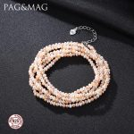 PAG&MAG Multi Color Small Rice Pearls Necklace 100+5cm Long Chain For Women Necklace <b>Bracelet</b> Dual Purpose Beach bohemia Style