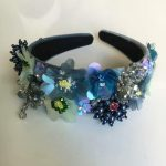 Baroque Exaggerated Fairy Sequins Flower Crown Tiara Headband Wedding <b>Jewelry</b> Hair Accessories <b>Handmade</b> Tassel bijoux cheveux