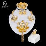 BAUS Indian <b>jewelry</b> 2018 fashion Dubai Gold Color Wedding <b>Jewelry</b> Set Bridal Gift big Nigerian Wedding African Beads <b>Jewelry</b> Set