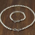 Prett Lovely Women's Wedding charm Jew.656 sets AAA 8-9mm white Freshwater Akoya Pearl Necklace Braceles