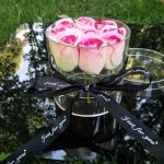 New Round Clear Acrylic Rose Flower Box Makeup Organizer Luxury <b>Handmade</b> Gift Box Valentine's Day Multifunctional <b>Jewelry</b> Box
