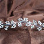 Flowers Girls Headband Floral Brides Tiara Clear Rhinestones Crystal Wedding Bridal Veil Prom Party Hair <b>Jewelry</b>
