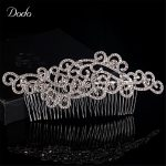 Wedding Hair Crab Handmade Hot Design Austrian Crystal Wave Shape Concise Clear For Women Prom Wedding <b>Jewelry</b> HairPin Comb HA7