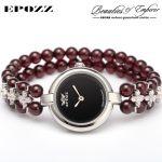 Beauties of Emperor EPOZZ nature gemstone series new quartz watch women 925 <b>Silver</b> bead jewelry watches pearl <b>bracelet</b> H0721S1