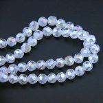 Clear AB Crystal 32 Faceted Ball Beads 4mm K9 Glass Loose Spacer Bead For <b>Jewelry</b> <b>Making</b> Home Decoration