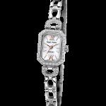Royal Crown Jewelry Watch 6538S Italy brand Diamond Japan MIYOTA platinum <b>Silver</b> <b>bracelet</b> 15*20.5mm Claw set Soviet drill