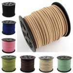 100yard/roll Faux Suede Cord diy Accessories for Bracelet <b>Jewelry</b> <b>Making</b> 5mmx1.5mm 16 Color for Choose