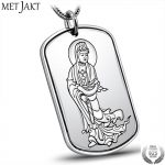 MetJakt S999 Fine <b>Silver</b> Buddha Buddhist Heart Sutra Pendant and 925 <b>Silver</b> Snake Chain <b>Necklace</b> for Unisex Amulet Jewelry