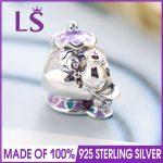 LS High Quality 925 Sterling Silver Mrs.Potts & Chip Bead Charm Fit Original Women Beads Bracelets 100% Fine <b>Jewelry</b> J
