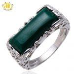 HUTANG Natural Gemstone Malachite Solid 925 Sterling <b>Silver</b> Filigree Ring Women's Fine Fashion Stone <b>Jewelry</b> For Gift