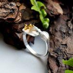 Lotus Fun Moment Real 925 Sterling Silver Natural <b>Handmade</b> Designer Fashion <b>Jewelry</b> Adjustable Hummingbird Rings for Women