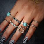 kuniu eight piece joint of the <b>antique</b> single rings suit for women brand fashion <b>jewelry</b>