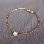Personalized <b>Handmade</b> Natural freshwater pearls Bracelets Gold Wrap Fillde Customize Bangles Vintage <b>Jewelry</b> Bracelet for Women
