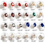 100PCS Different Crystal OVal heart Shape Alloy Glitter Pearl Nail Art <b>Decoration</b> 3D for Finger Nail <b>jewellery</b>, A2-24