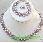 Prett Lovely Women's Wedding fast shipping> > <b>Jewelry</b> FW pearl necklace set ear stud