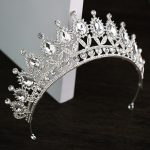 Vintage Silver Plated Crystal Queen Crown Wedding tiara Bridal Hair <b>Jewelry</b> Diadem Party Show Pageant Wedding Hair Accessories