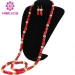 Stunning! <b>Native</b> <b>American</b> Style Red Coral Set Long Coral Necklace Set New Fashion African <b>Jewelry</b> Set CNR071