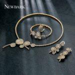 NEWBARK Jewelry Sets Fashion Earring <b>Bracelet</b> Necklace Jewelry Party Wedding Jewelry <b>Silver</b>/Gold Color Newest Classic Trendy