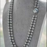 Hot sell Noble- Free shipping HOT DOUBLE STRANDS 8-9MM AAA GENUINE SOUTH SEA GRAY PEARL <b>NECKLACE</b> 20 INCH r a