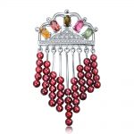 3.0ct Natural Tourmaline Purling Waterfall Sterling <b>Silver</b> Rose Pink <b>Necklace</b>