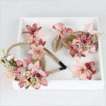 4 color Flowers Headdress three-piece Wreath Headband Princess Diadem Hair <b>Jewelry</b> Gift Wedding Dress Accessories Bride Crown