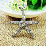 Hot Sales <b>Antique</b> Silver Plated Necklace Vintage Starfish Pendants&Necklaces Crystal Bead Pearl <b>Jewelry</b> Accessory