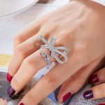 GODKI 925 Sterling Silver Cute Bow-knot Mirco Pave Cubic Zirconia Ring For Women Sterling Silver <b>Jewelry</b>