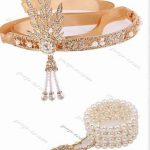 1920s Flapper Great Gatsby Tiara Crowns Bridal Hair <b>jewelry</b> Wedding Headband vintage hair accessories coroa noiva head chain