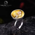 Lotus Fun Moment Real 925 Sterling Silver Natural <b>Handmade</b> Fashion <b>Jewelry</b> Flower Ring The Aroma of Wintersweet Rings for Women