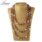 Multilayer real natural freshwater pearl <b>necklace</b> long women 170cm-180cm,mother pearl <b>necklace</b> fine jewelry free shipping