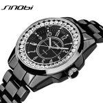 Bling Rhinestone SINOBI Luxury Steel Quartz Watch Women Clock Female Ladies Dress Wristwatch Gift <b>Silver</b> Gold 2016 Relojes Mujer