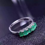 Natural green emerald Ring Natural gemstone ring 925 <b>sterling</b> <b>silver</b> trendy Elegant Luxury arrangement women party gift <b>Jewelry</b>